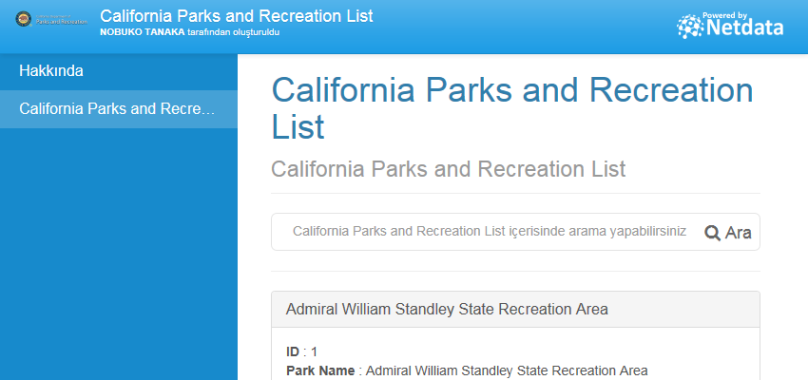 California Parks and Recreation List