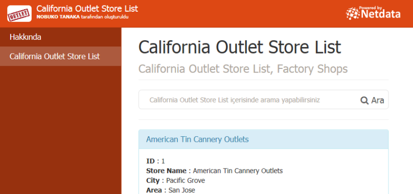 California Outlet Store List