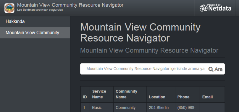 Mountain View Community Resource Navigator