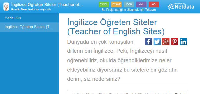 İngilizce Öğreten Siteler (Teacher of English Sites)